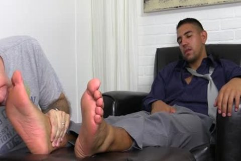 Latin Hunk Dressed In Business Attire Jake acquires Toe Sucked