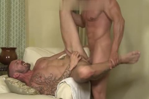 Muscle homosexual anal-copulation With Facial