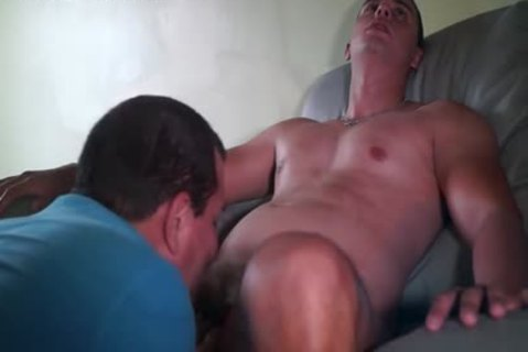 engulfing A yummy young Fast Food Server Latino
