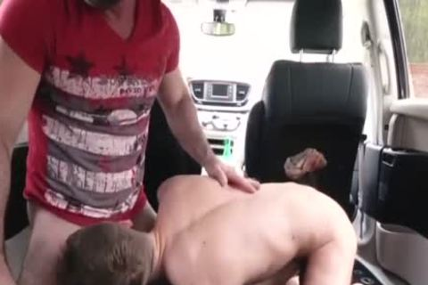 filthy daddy pounds His Step Son In A Car - FAMI