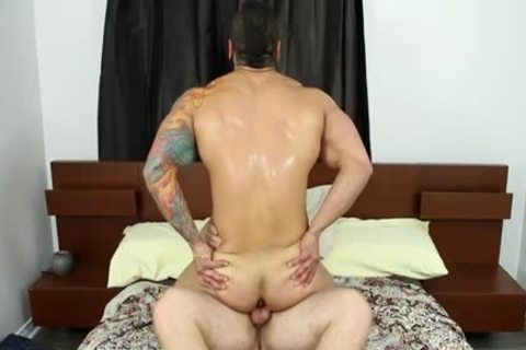 Muscle homosexual oral-stimulation And ball cream flow