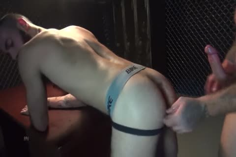 Gaytanamo - curly Muscle bare Prison threesome