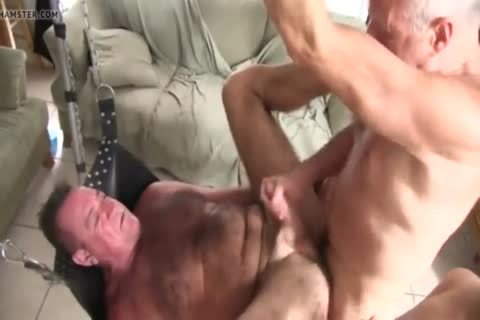hairy Chest Daddy's raw group-sex