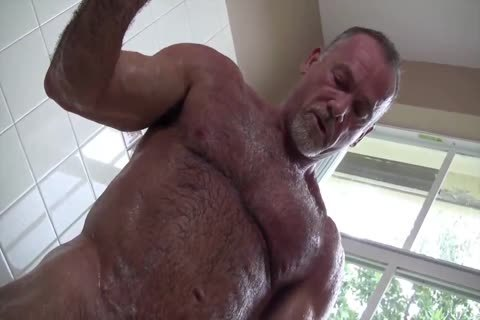 sleazy Muscle Daddy Mikey Shower jerk off & sperm