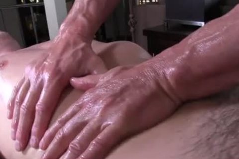 GayRoom daddy masseur rubs and probes big shlong youngster - painfully sex video - Tube8.com