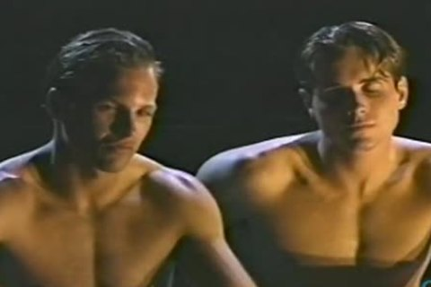 TWO agreeable MUSCLE males engulf AND pound Kurt juvenile  Derek Cameron