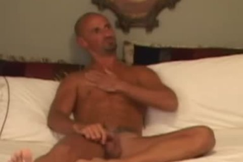 Bald smutty man Wants His knob cheerful