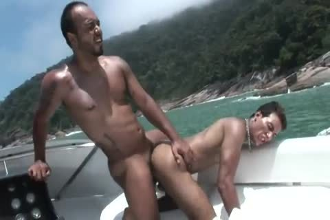astonishing Tanned Muscled dudes Incredible wazoo Pumping outside