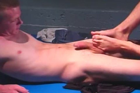 Two males Footjobs And wazoo nailing