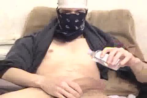 biggest penis Masked Latino Jacks Off