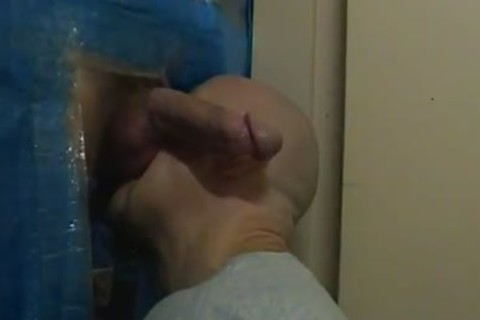 me gloryhole engulfing ...noisy end from the lad when that man cums