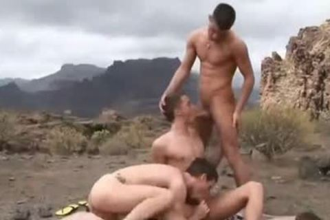 gorgeous twink DP in the Mountains