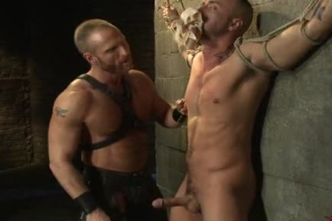 fastened Up homo twink acquires nailed By delightsome Leather Daddy