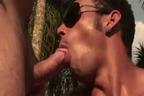 excited Muscled boyz nail Near The Pool