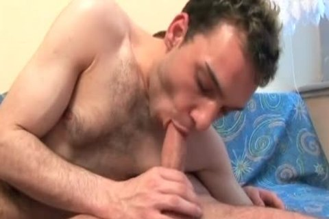hairy Male beauty face gap-nailing Boyfriend's large Banana