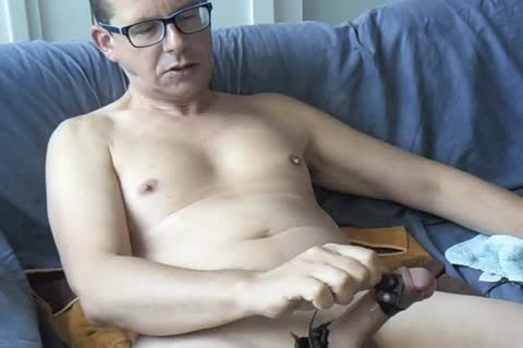 An Electro Stimulation Vid And I Jerk-off Till I let fly My Second Load For This Day ;-)