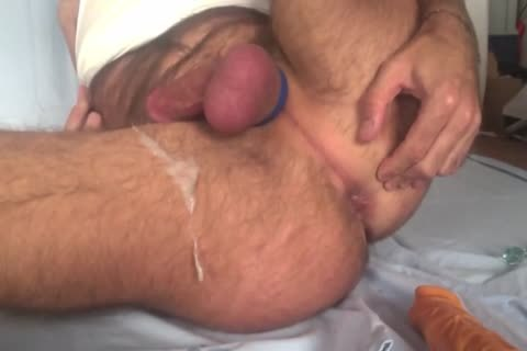 Showing My Freshly bald Balls And gap whilst Playing With My wazoo Beads And 8-inch fake 10-Pounder. Great sex ball batter discharged All Over My bushy Legs At The End
