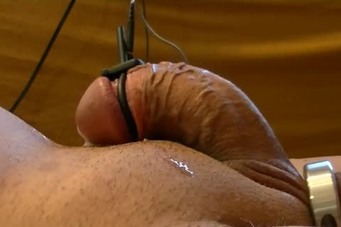 Starting With vigour betwixt Ring At The Balls And But-plug, Later Adding vigour betwixt Cockhead And But-plug