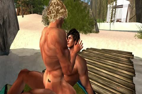 Late In The Afternoon Two males Meet In The bawdy Sim Of homo males´s Cove En Make Love.