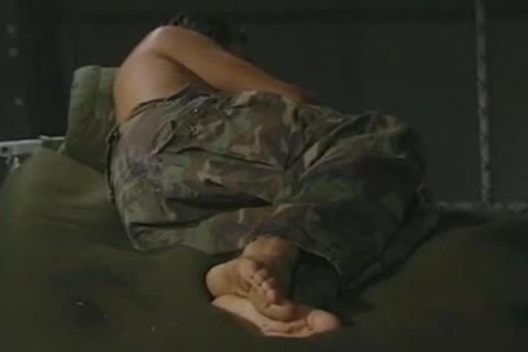 Hung Army fellow Massaging His wicked Feet