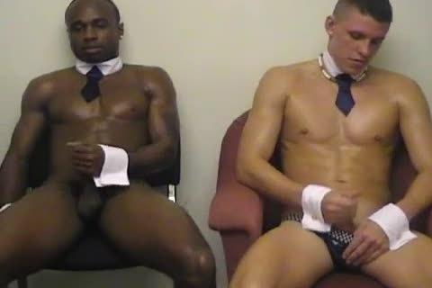 Two pumped up homosexual males have a enjoyment A handjob!