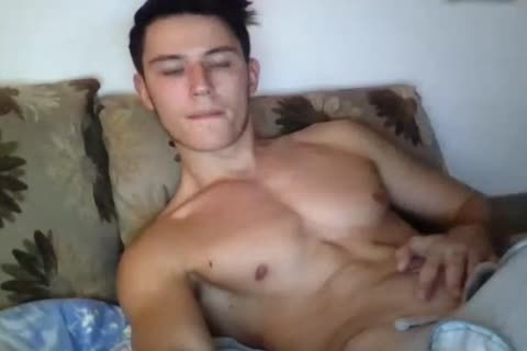 fashionable muscular homosexual lad Cums All Over His Hard Abs On web camera. admirable taut wazoo.