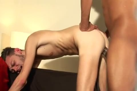 Skinny lad team-fucked By A biggest 10-Pounder