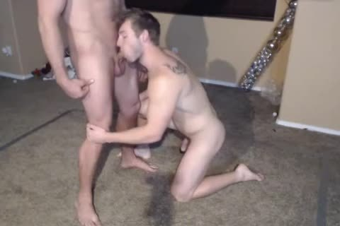 2 Muscle males in nature's garb Wrestling.The  Loser One Gives A oral pleasure stimulation joy. sex goo Facial first Time On web camera.