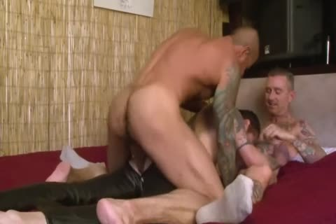 Three Scorching boyz Having A lascivious excited 3some.