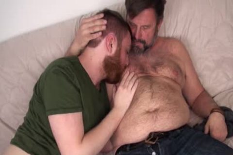 hairy Daddy Chris Mine nails Colt Cox in nature's garb