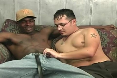 Hung darksome males Sharing A lustful White lad