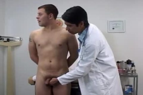 Doctors Taking College guys Temperatures clips
