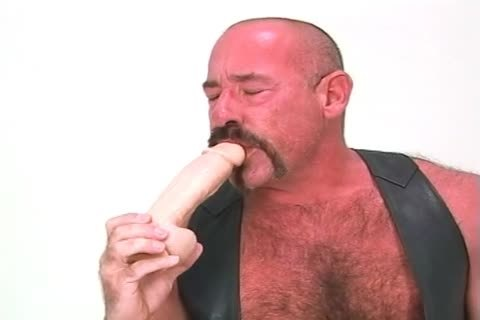 large daddy guy Playing With His Dildos And poking In
