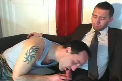 Full clip scene: A blameless Vendor chap Serviced His large dick By A chap!