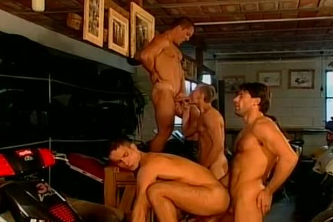 Muscled Biker guys Are fucked rough And naked At This gay Bar
