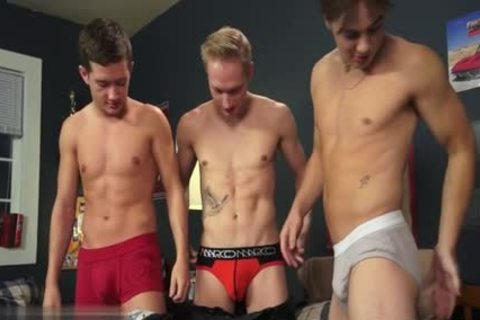 naughty homosexual threesome And cream flow
