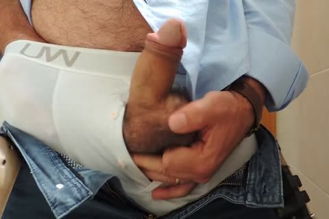 Teasing And wanking A nice Tool With Precum In Some White Boxer underclothing
