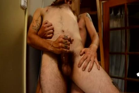 hairy gay pooper pound With ball cream flow