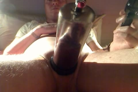 Pumping My cock And Balls At Night 1