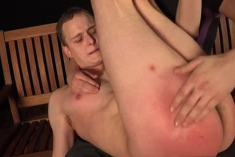 Muscle homo spanking with penis juice flow