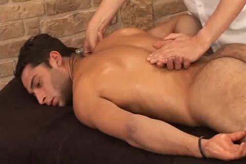 sleazy Hunky Adrian Getting worthy Sensual Massage On His Searing Body And Hard Tool