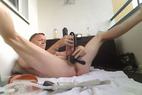 Pumping My penis And arse, sex tool poke
