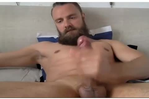 cute lad With A Beard Beats His penis