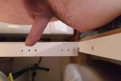 Washing The Dishes undressed. Floppy Precum knob Wobble