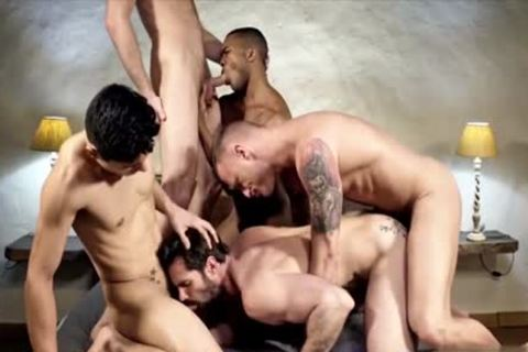 kinky gay double penetration With cumshot