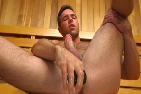 Muscle homosexual vibrator And cumshot