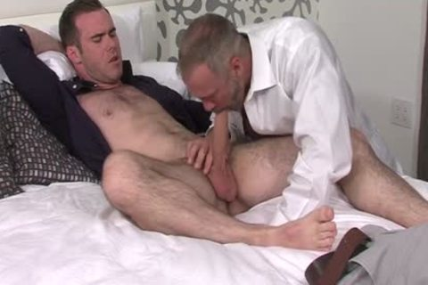 Silver Fox Dallas Steele And Clean Cut pecker Matthew Bosch cum jointly