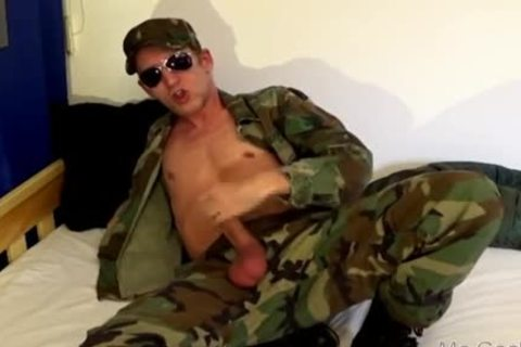 Military boy - sperm Boot Licker