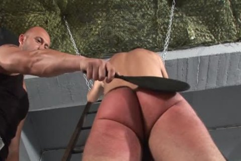 Humiliating torture spanking two