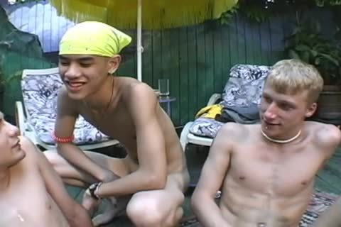 3 boyz AT The Pool nude oral joy